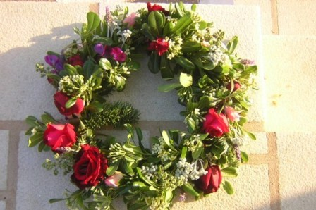 The May flower wreath