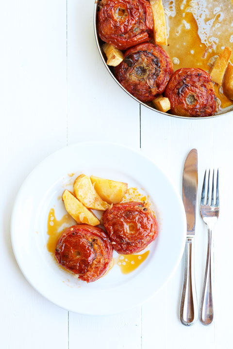 Gemista Stuffed Tomatoes - Greek Cooking Challenge